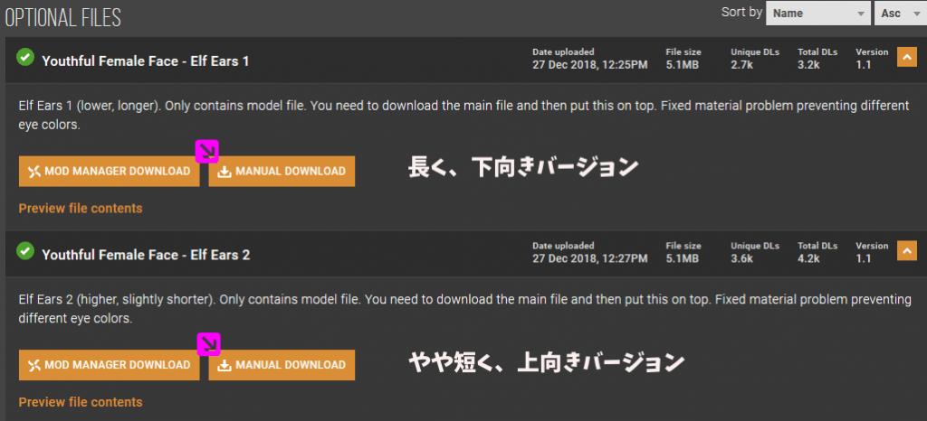 オプションファイルの日本語解説