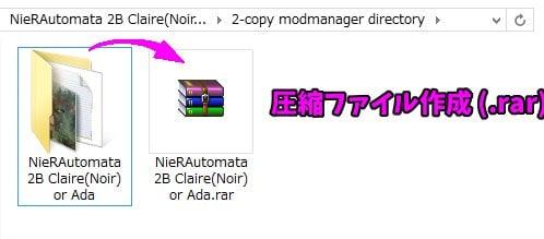 圧縮ファイル作成