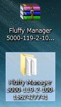 解凍したファイルとフォルダ